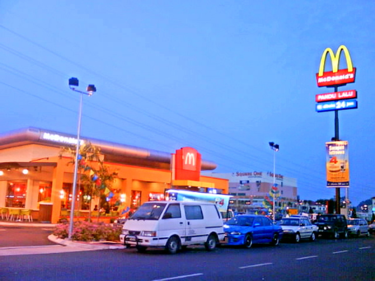 Drive thru at local burger place.