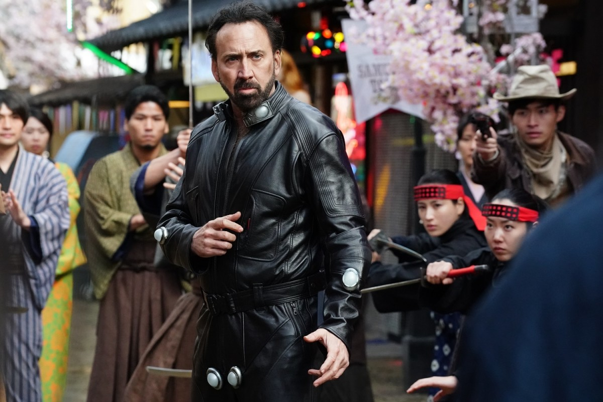 "Nicolas Cage as Hero in Sion Sono's, ""Prisoners of the Ghostland."""