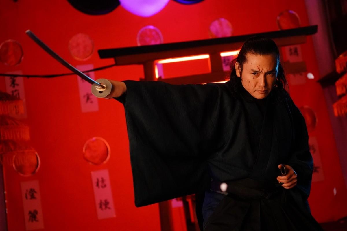 """Tak Sakaguchi as Yasujiro in, """"Prisoners of the Ghostland."""""""