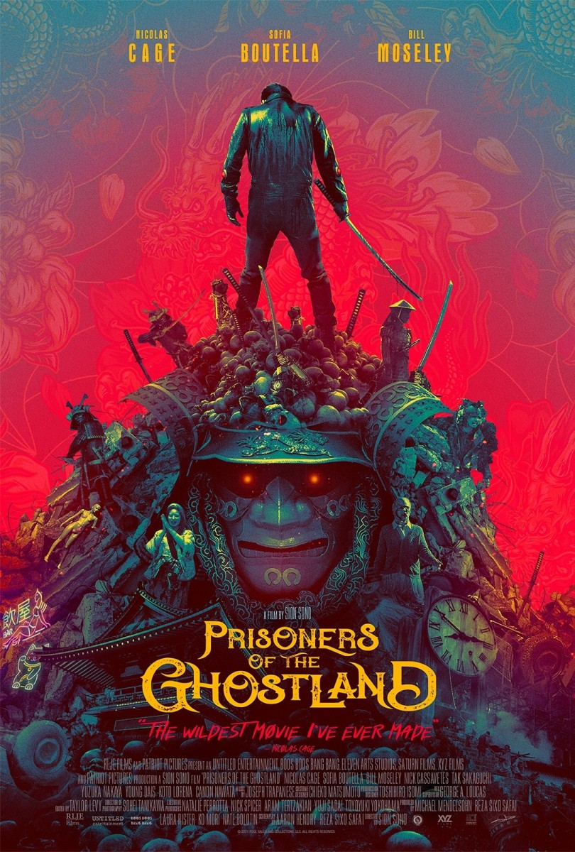 """The official poster for, """"Prisoners of the Ghostland."""""""