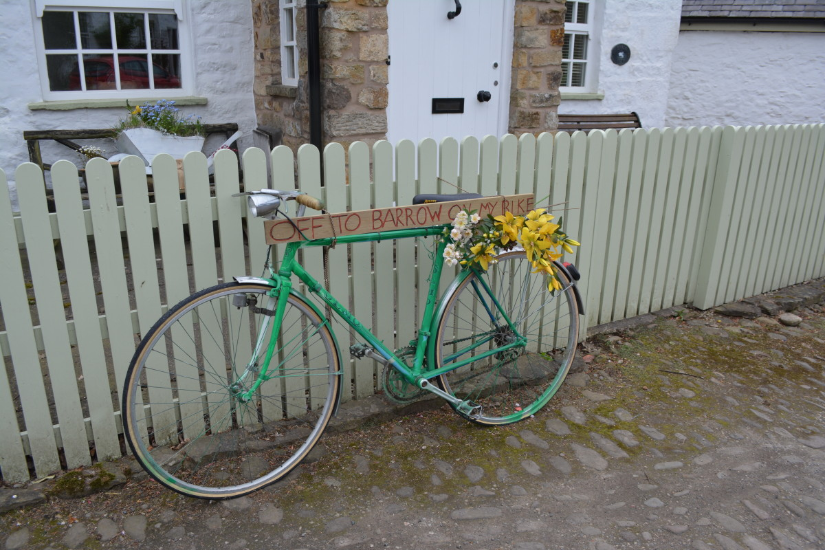 I snapped this pic on a trip a few years ago. Isn't this decorative bicycle cute?