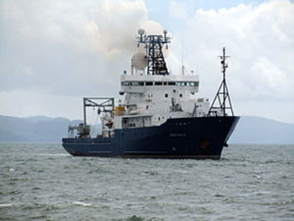US Navy research vessel RV Roger Revelle, honoring the prominent scientist.