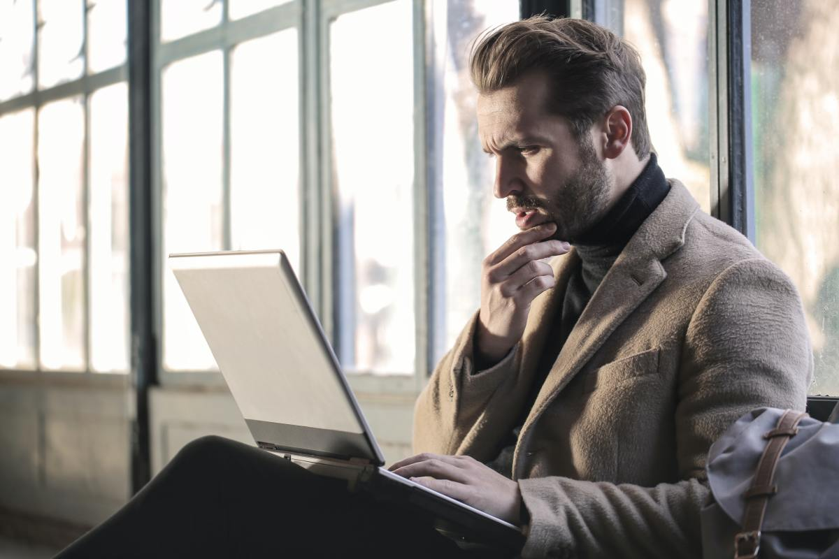 Reviewing man confused on what he reads