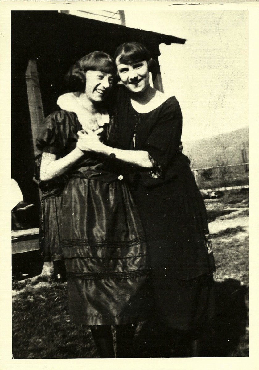"""Gramma Anna Morgan is on the left. Her childhood nickname was """"Skinny."""""""