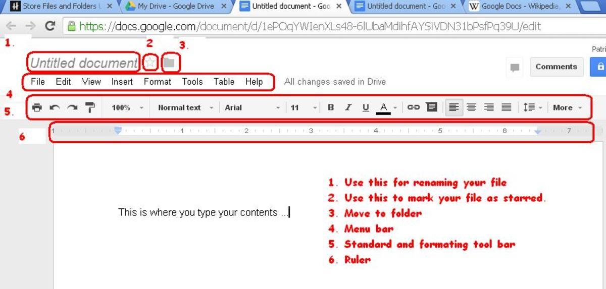 Creating Google Word Document