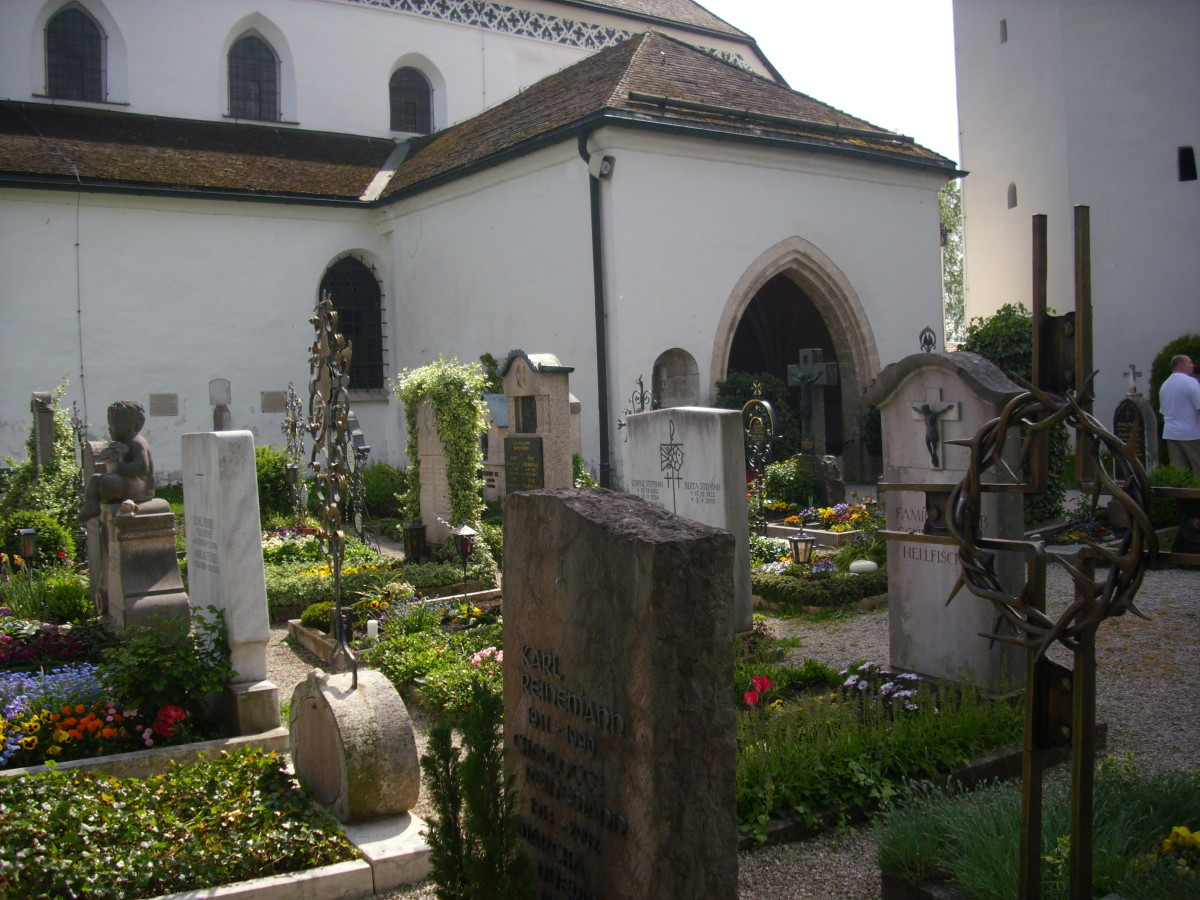 The cemetery at the monastery.