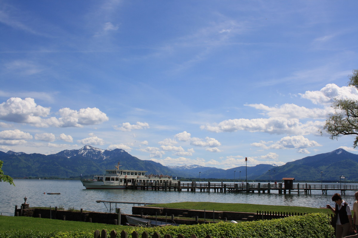 Chiemsee view from Fraueninsel.