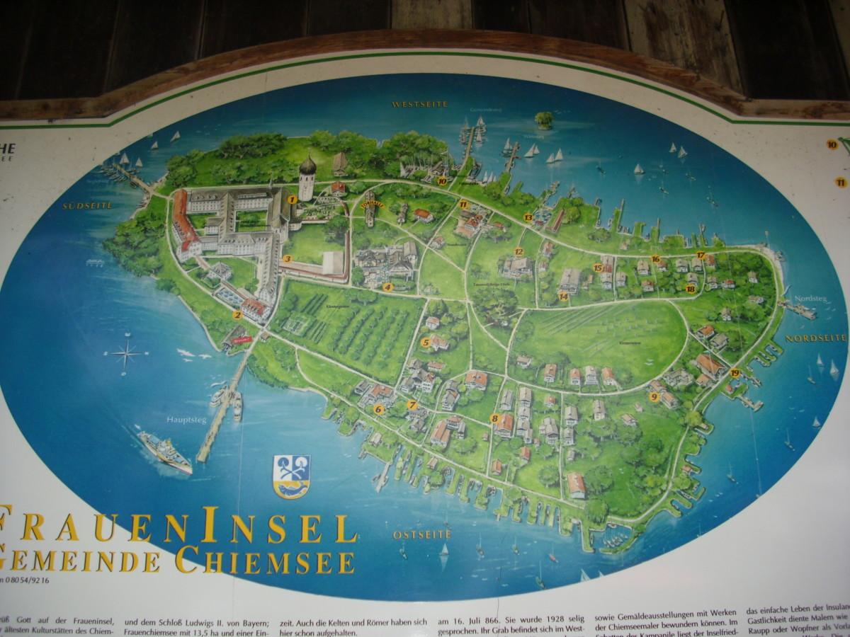 Map of Fraueninsel