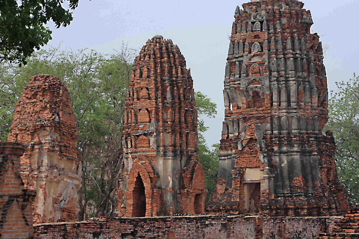 The ruined city of Ayutthaya