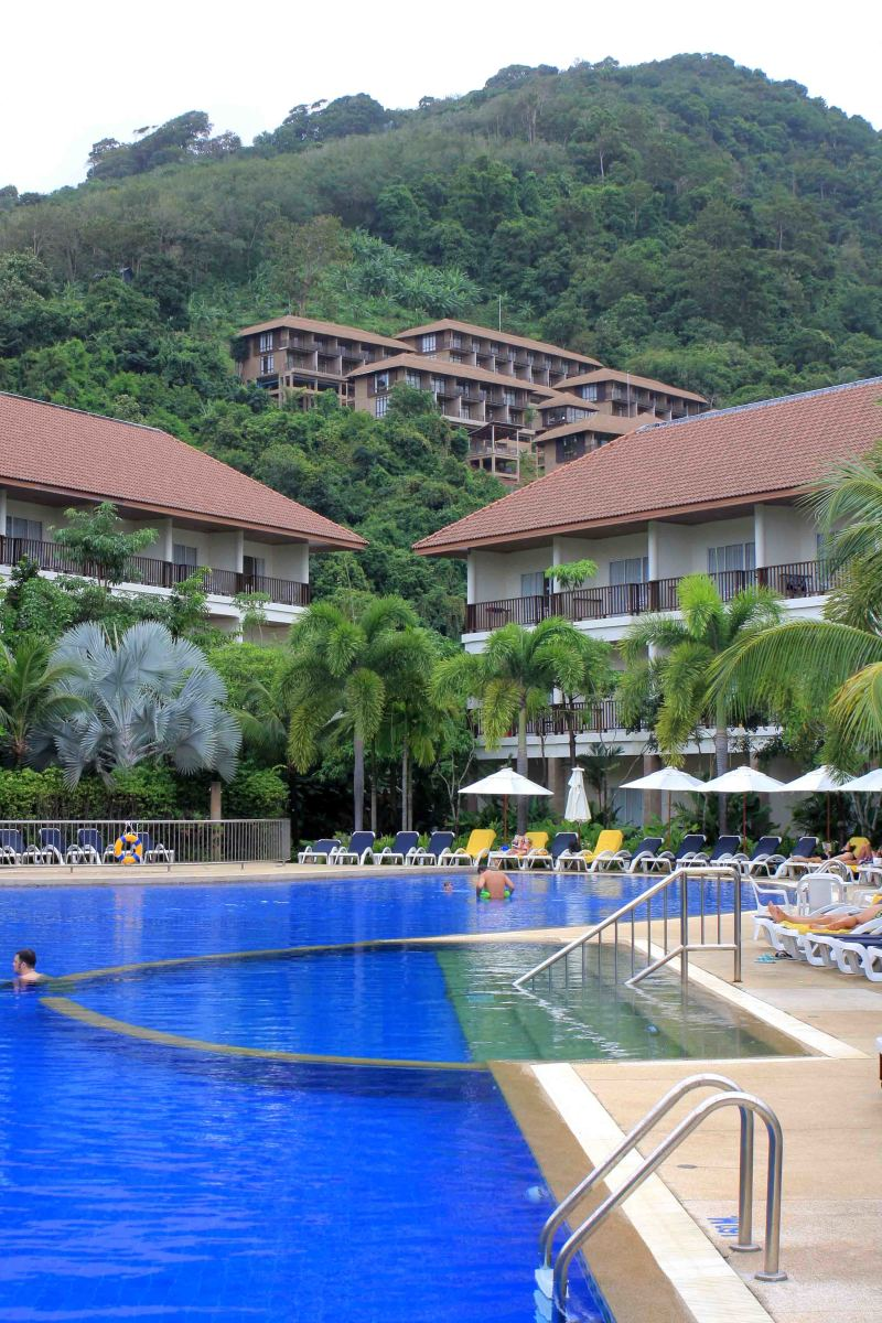 Exotic hotel setting in Krabi. And if you don't want to swim in the pool, the Andaman Sea is just one mile away