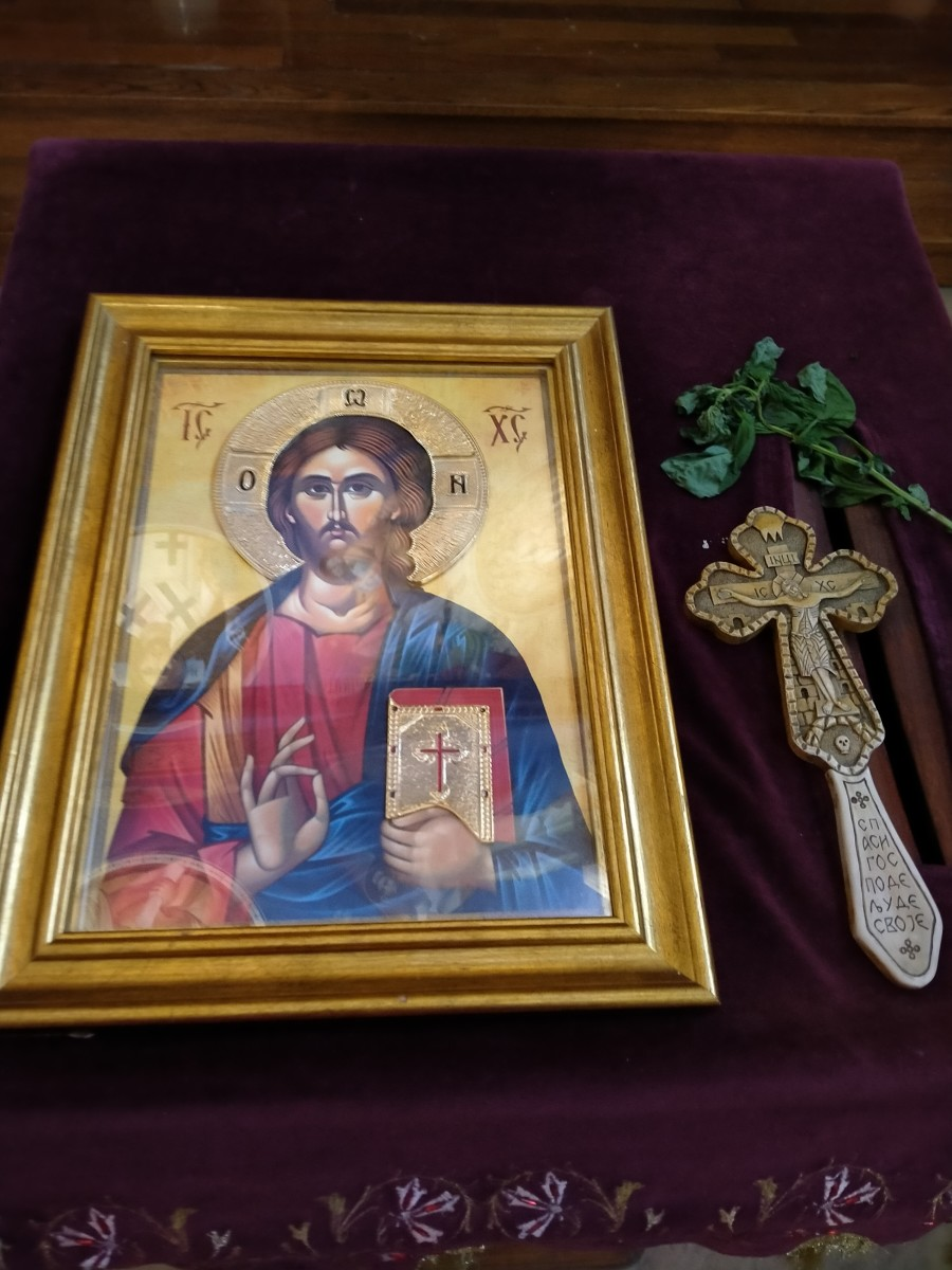 I would often pray to Jesus on this icon, holding his cross with my right hand, attempting to banish evil.