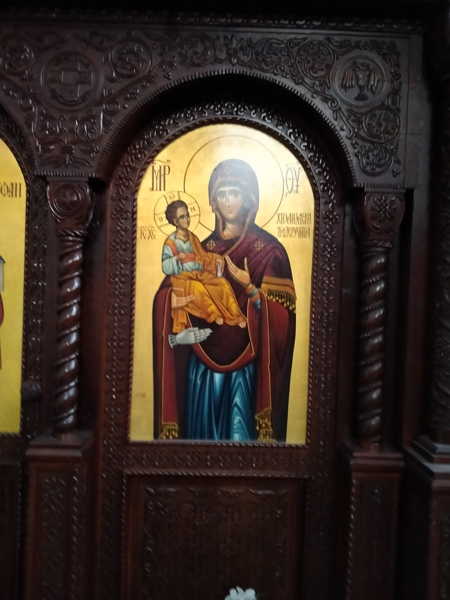Soon this icon of Bogoroditsa spoke to me on a spring day promising good health for my family.