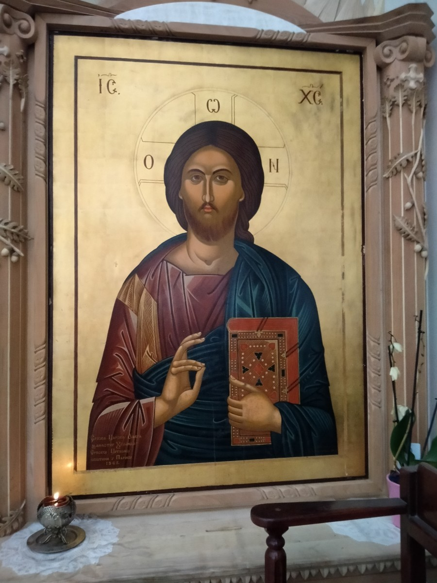 This icon of Jesus Christ would often talk to me in the mornings, giving me various remedies and advice in times of need.