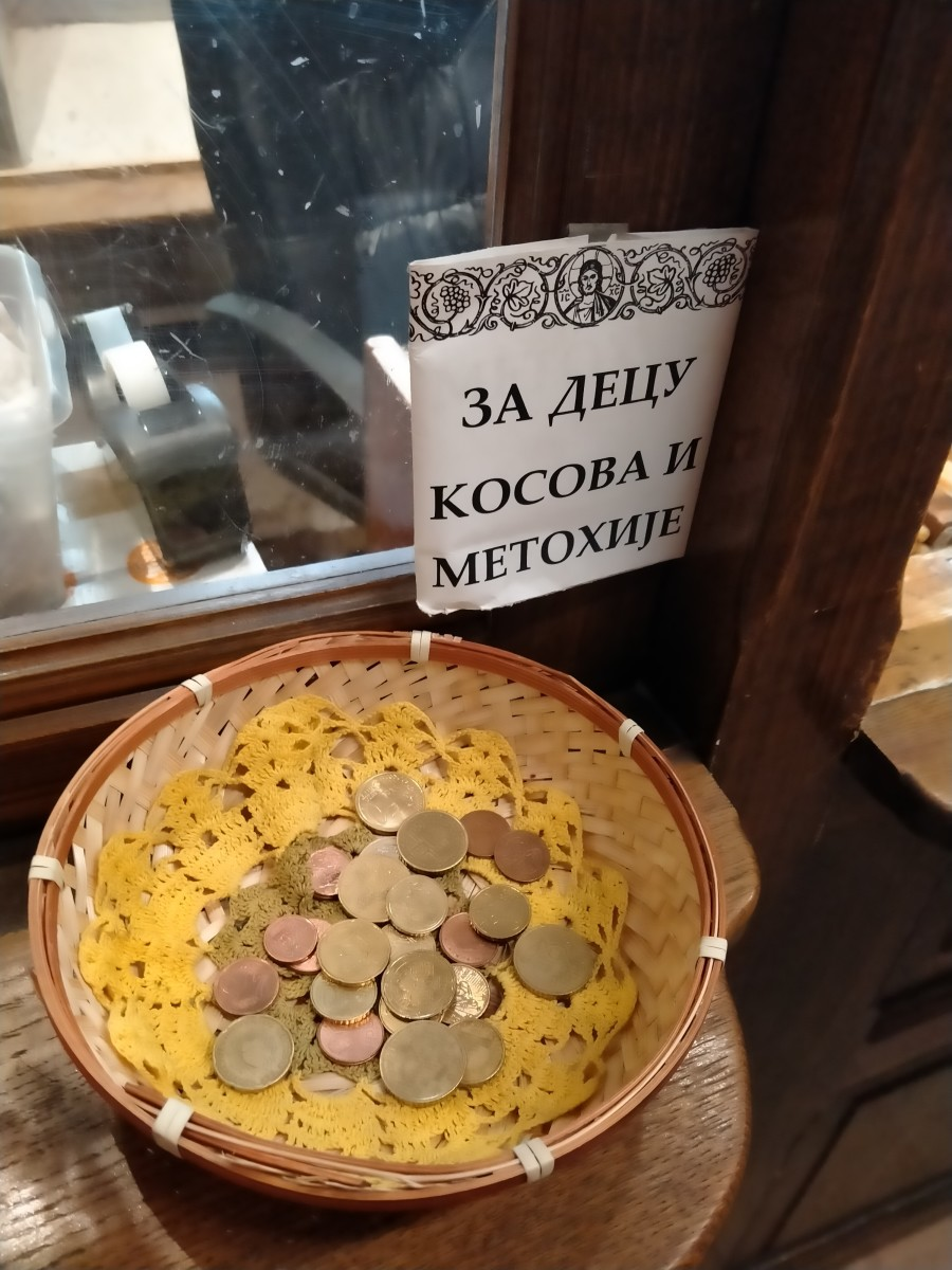 Serbians tend to leave very small amounts of money at churches during covid-19.