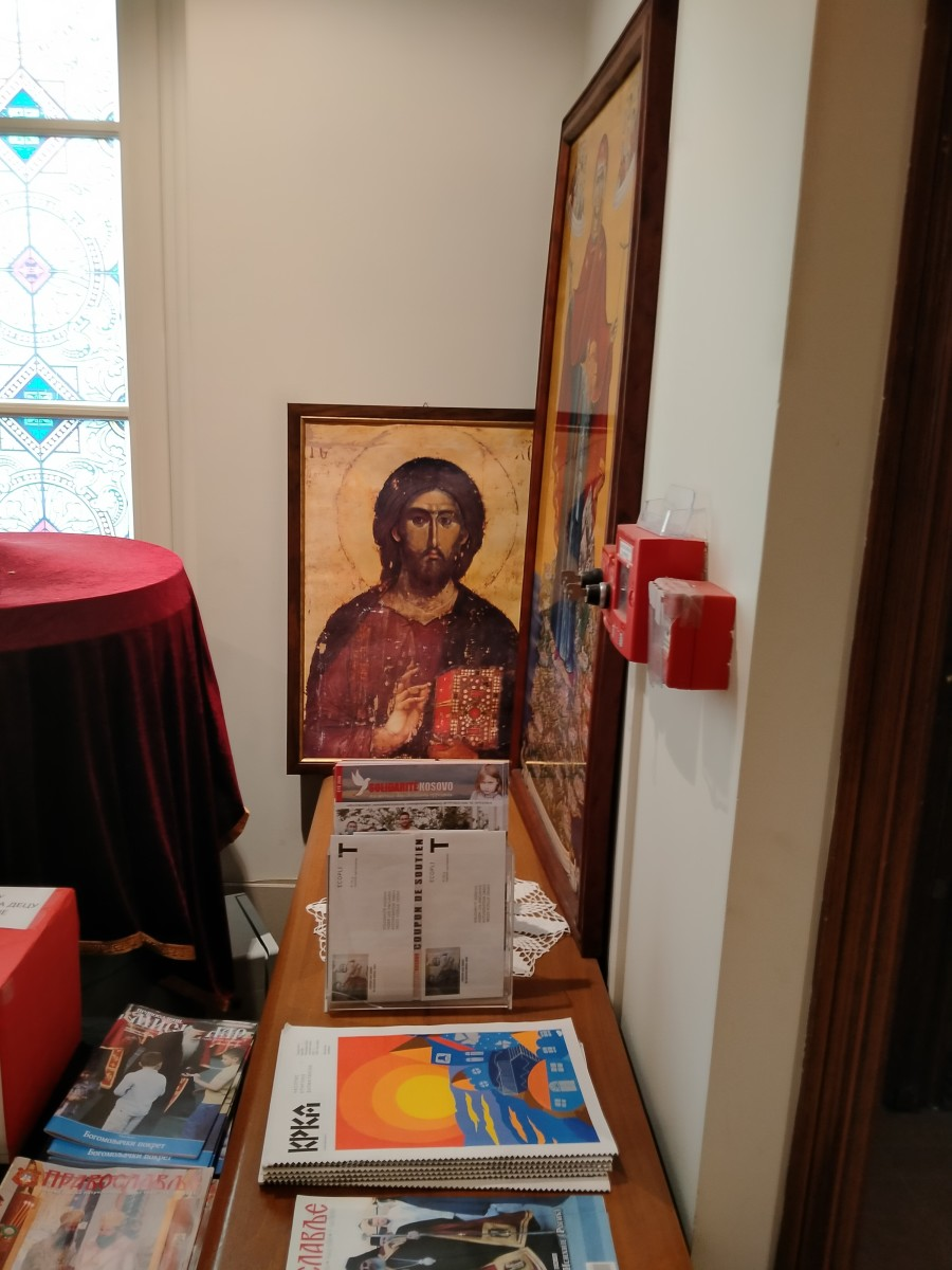 Oftentimes this icon of Jesus would give me advice prior to my leaving the church. The icon is located just near the window where I shouted for help when locked inside by a rude priests.