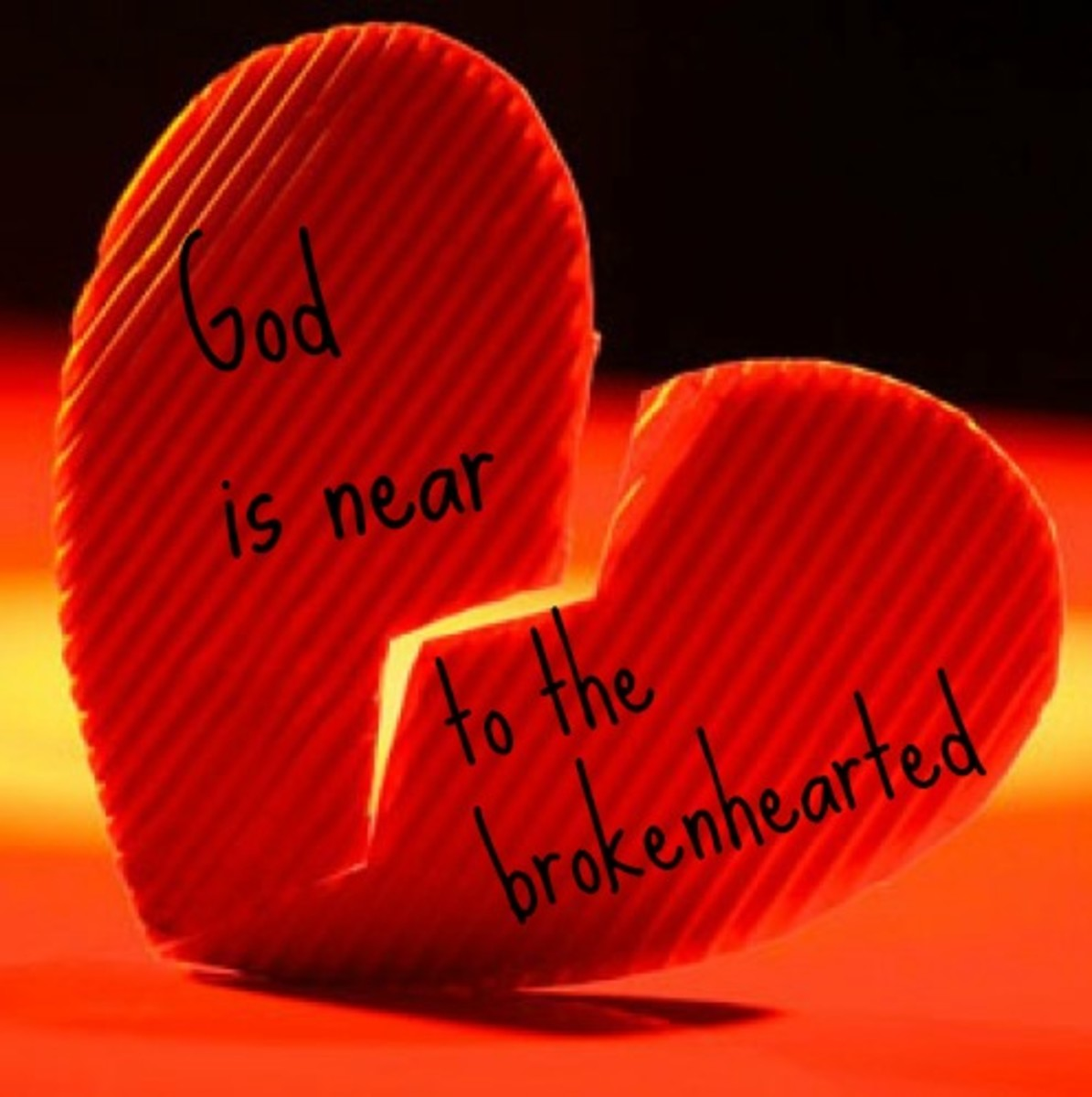 Broken Hearts Quotes from the Bible, Psalm 34:18 (verse 19 in Hebrew)