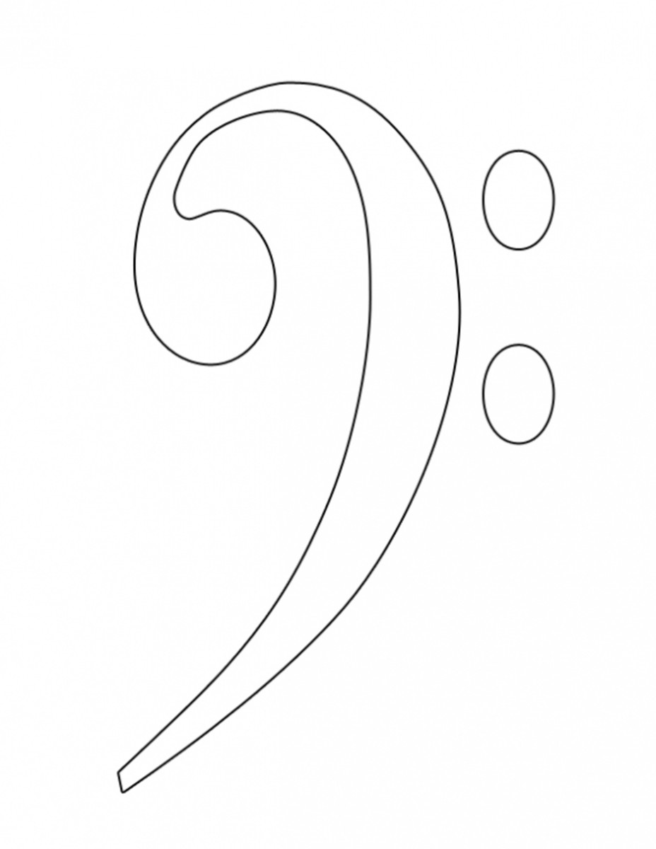 Bass Clef Coloring Image