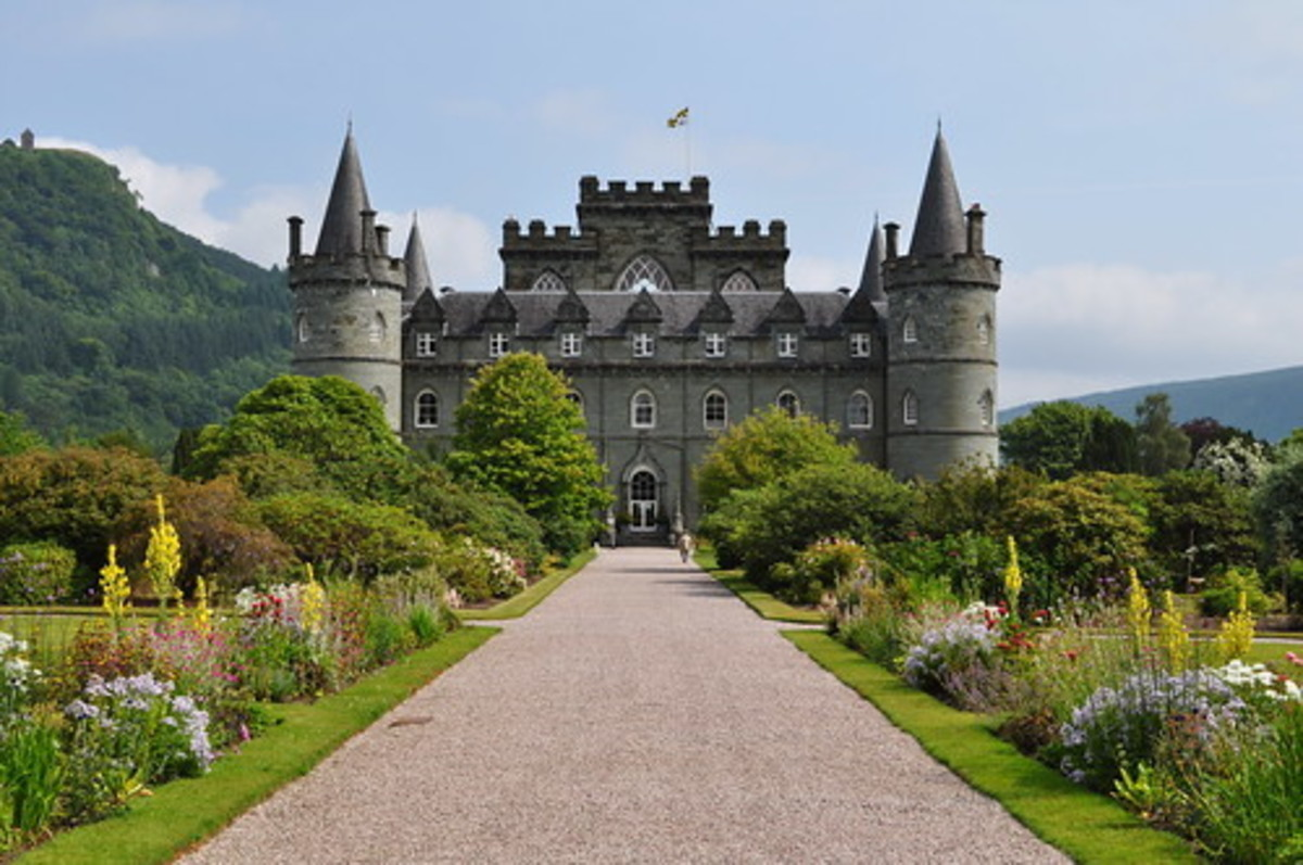 Inveraray Castle, home of the Duke of Argyll.