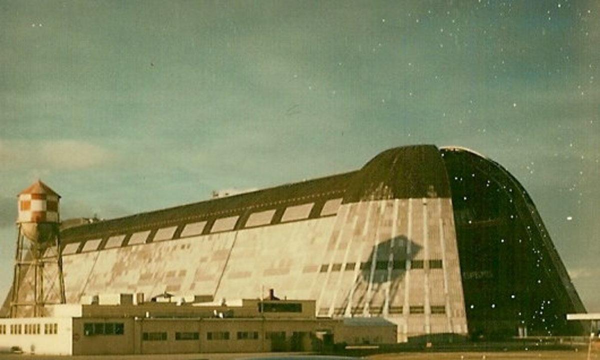 Hangar One, Moffett NAS, 1976.