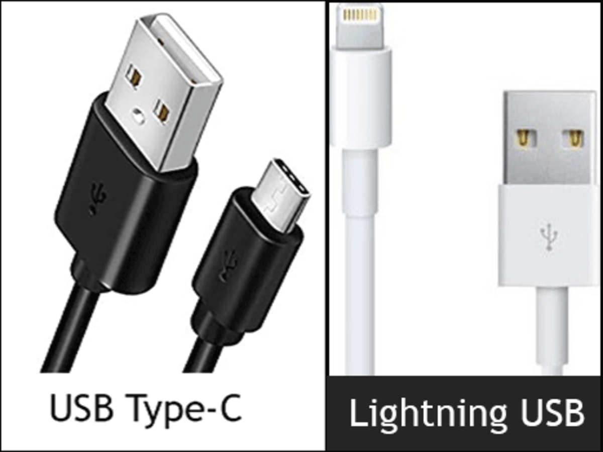 Difference between USB-C and Lightning USB.