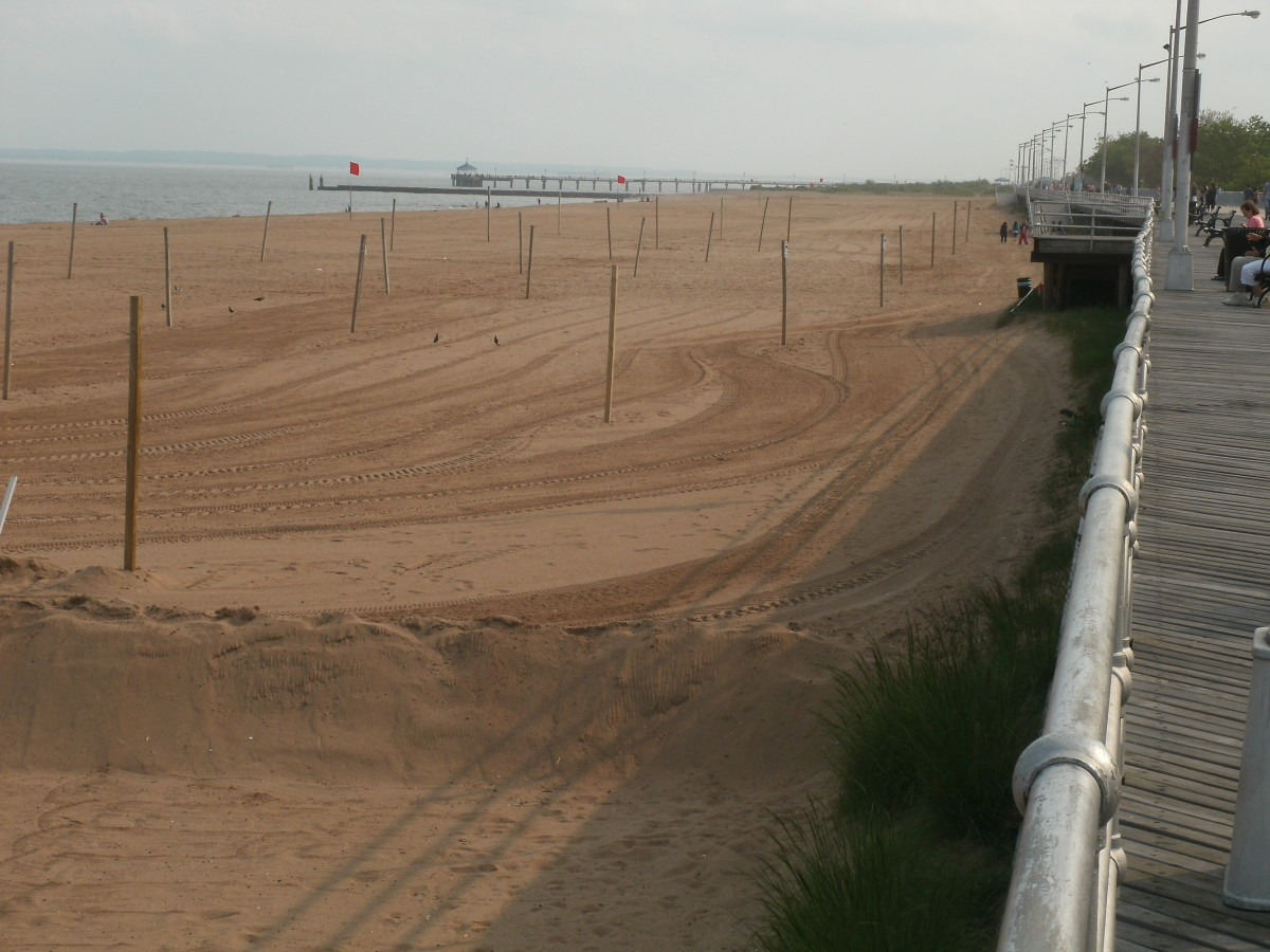 The view of the pier from around a half a mile away.
