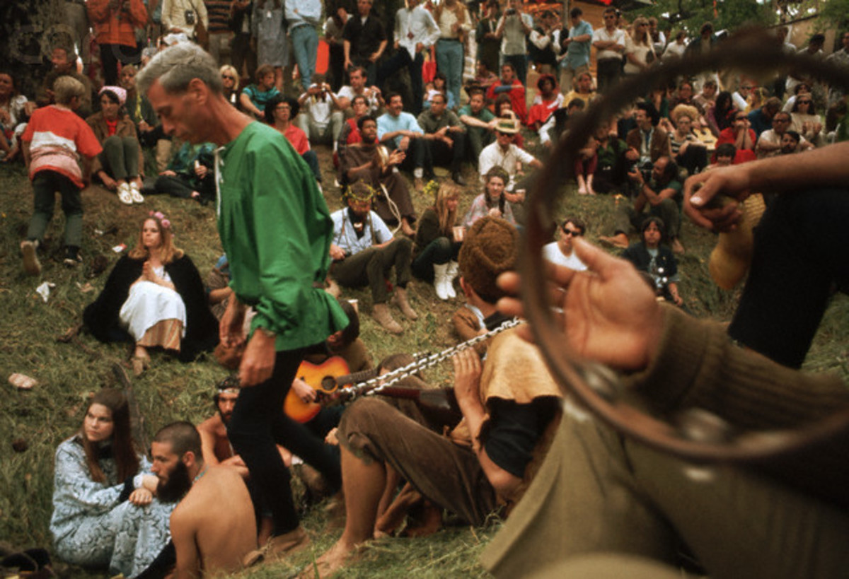 Hippies also enjoyed a lot of color in their fashion choices as well as in their colors of buses they lived in.