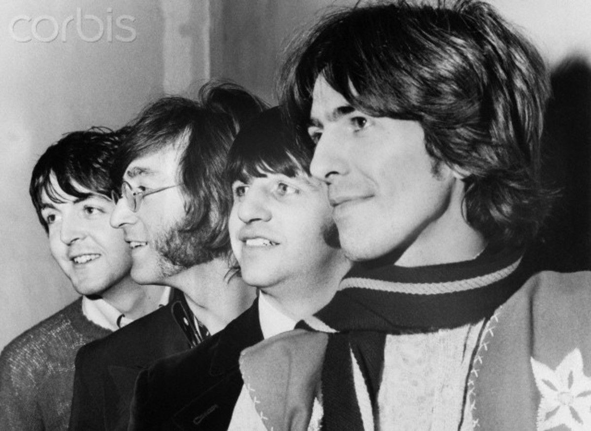 The Beatles, photographed in late 60's.