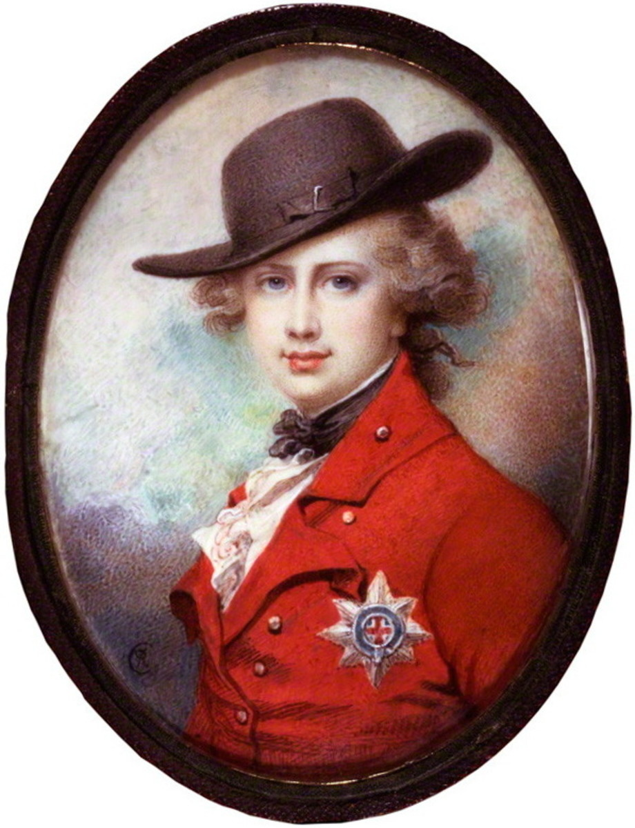George, the Prince of Wales, c. 1781.