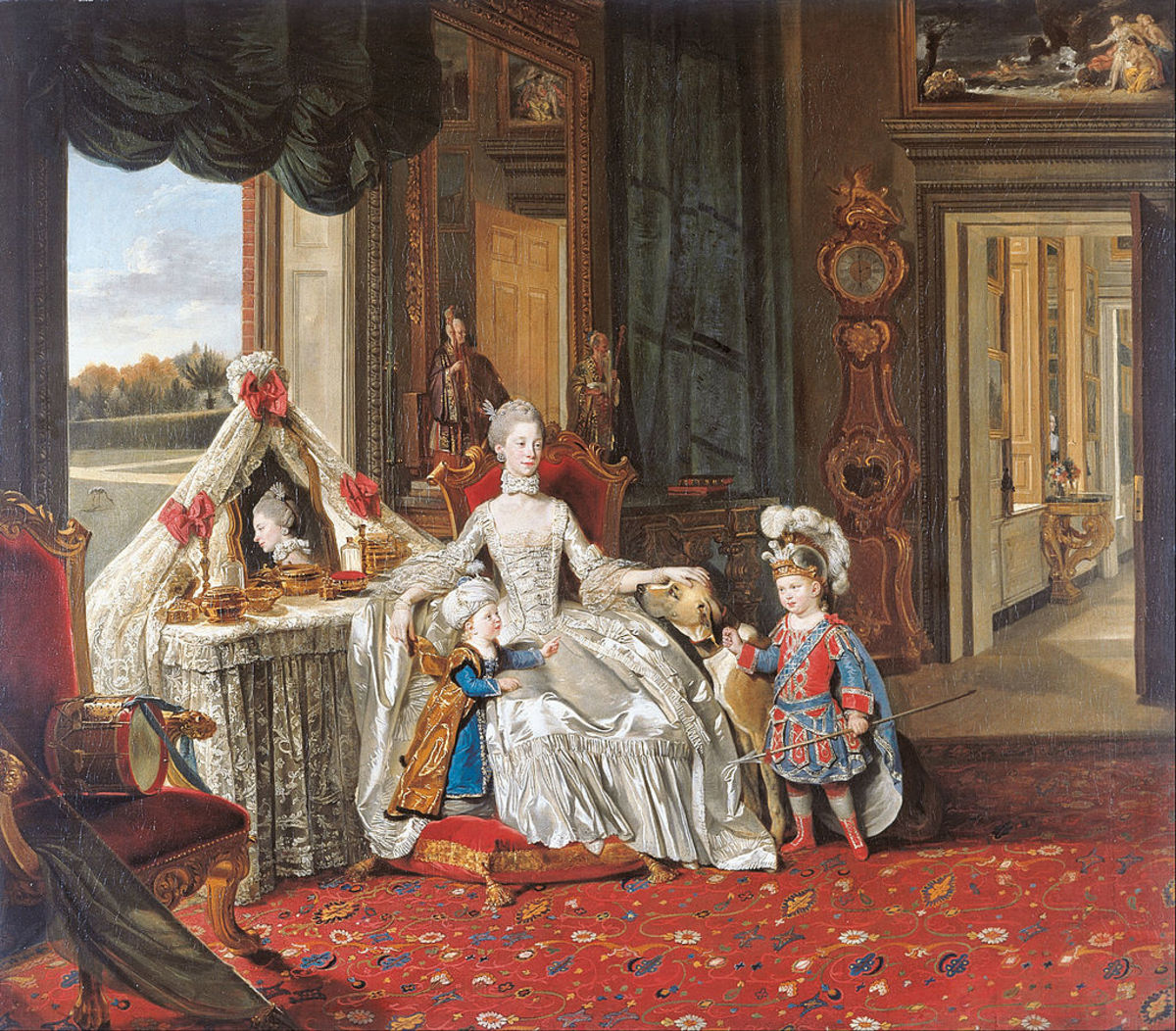 Queen Charlotte with her two oldest sons, by Johan Zoffany, 1765