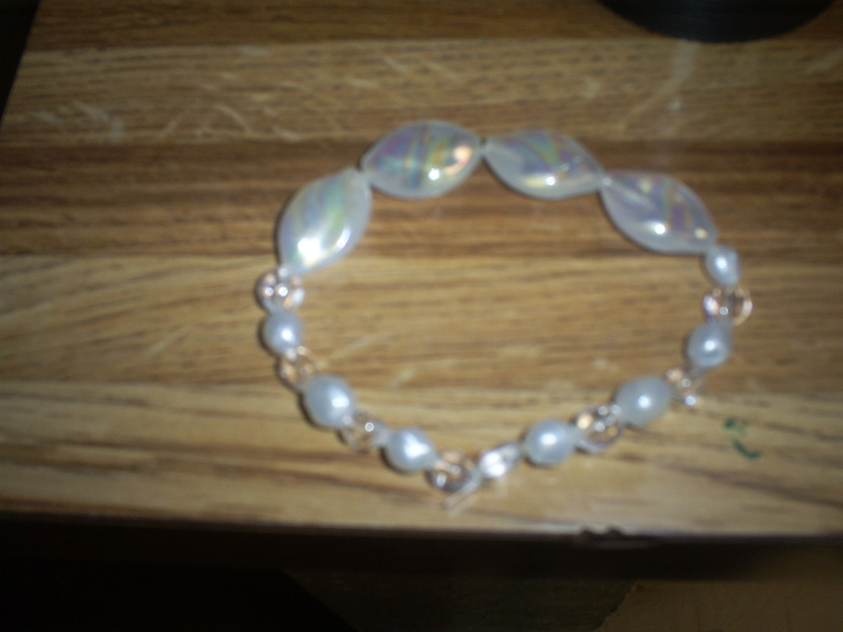 Here is an example of a cute bracelet I made using stretch magic.