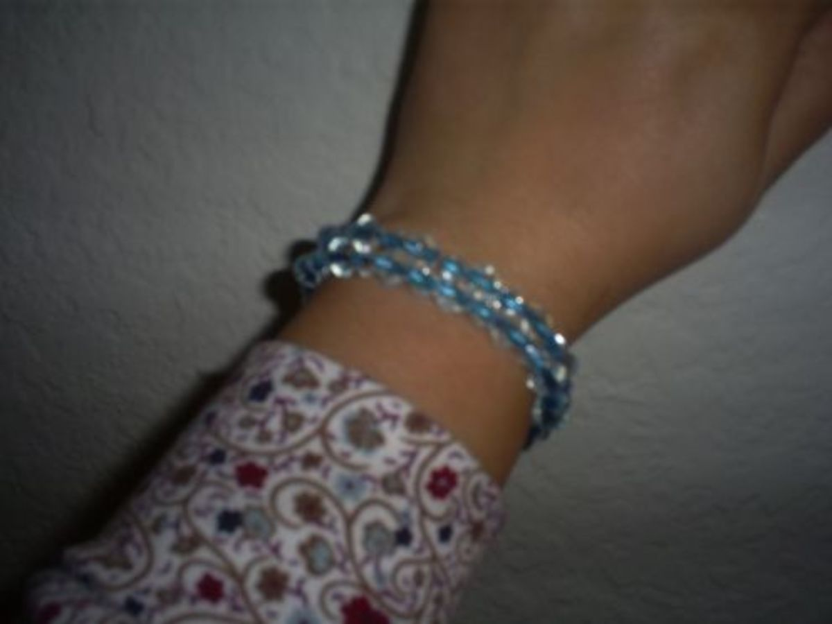 Your bracelet is ready to wear once has been tied together.  A little bit of jewelry glue can be added to the knot for extra security.