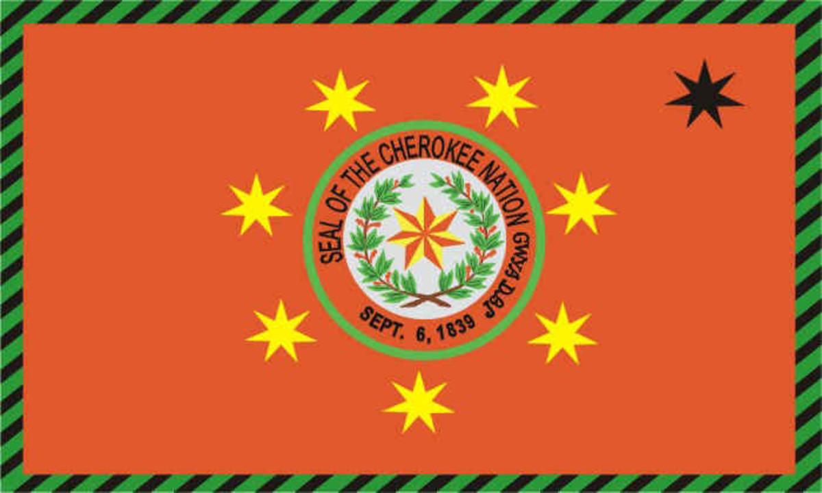 Flag for the Cherokee of Oklahoma