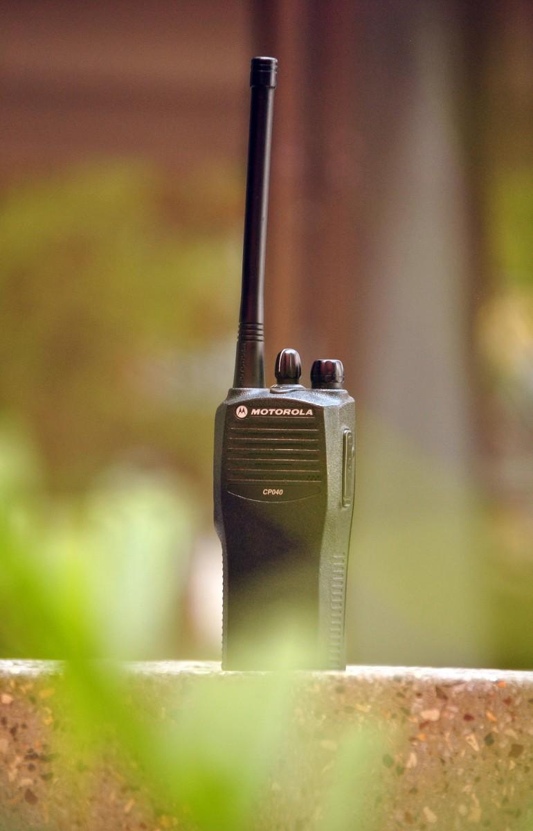 A MURS two-way radio.