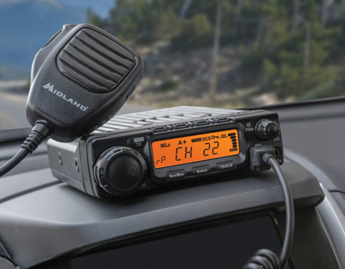 A Midland GMRS mobile radio.