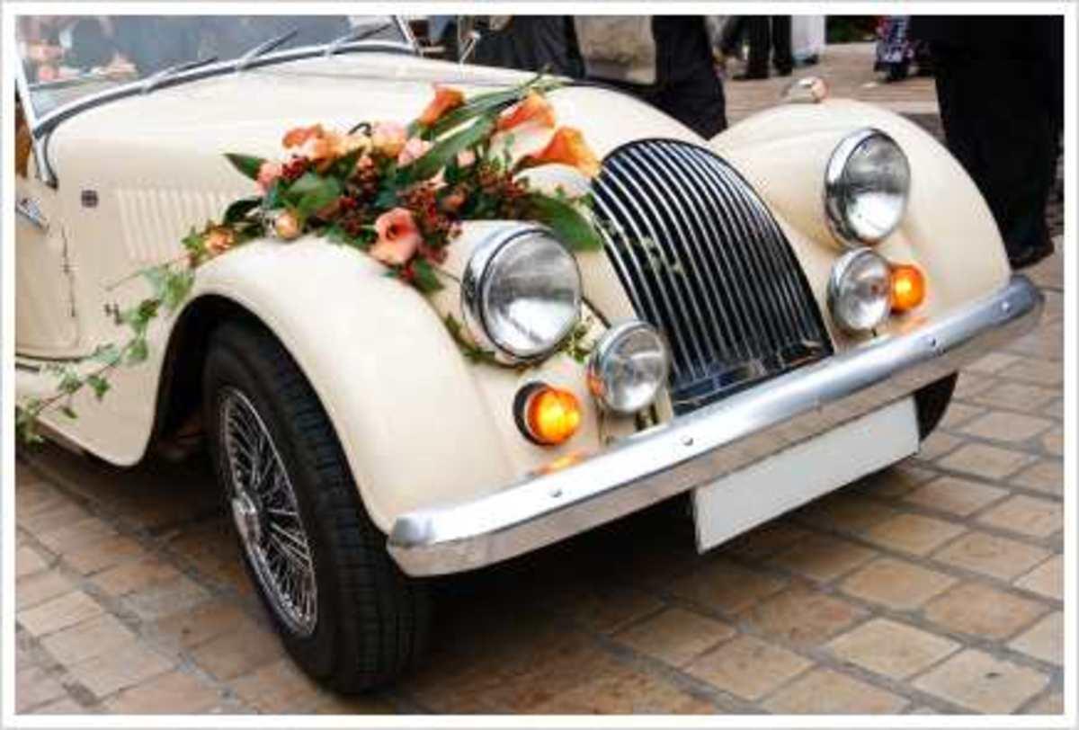 how to make a wedding car ribbon hubpages. Black Bedroom Furniture Sets. Home Design Ideas