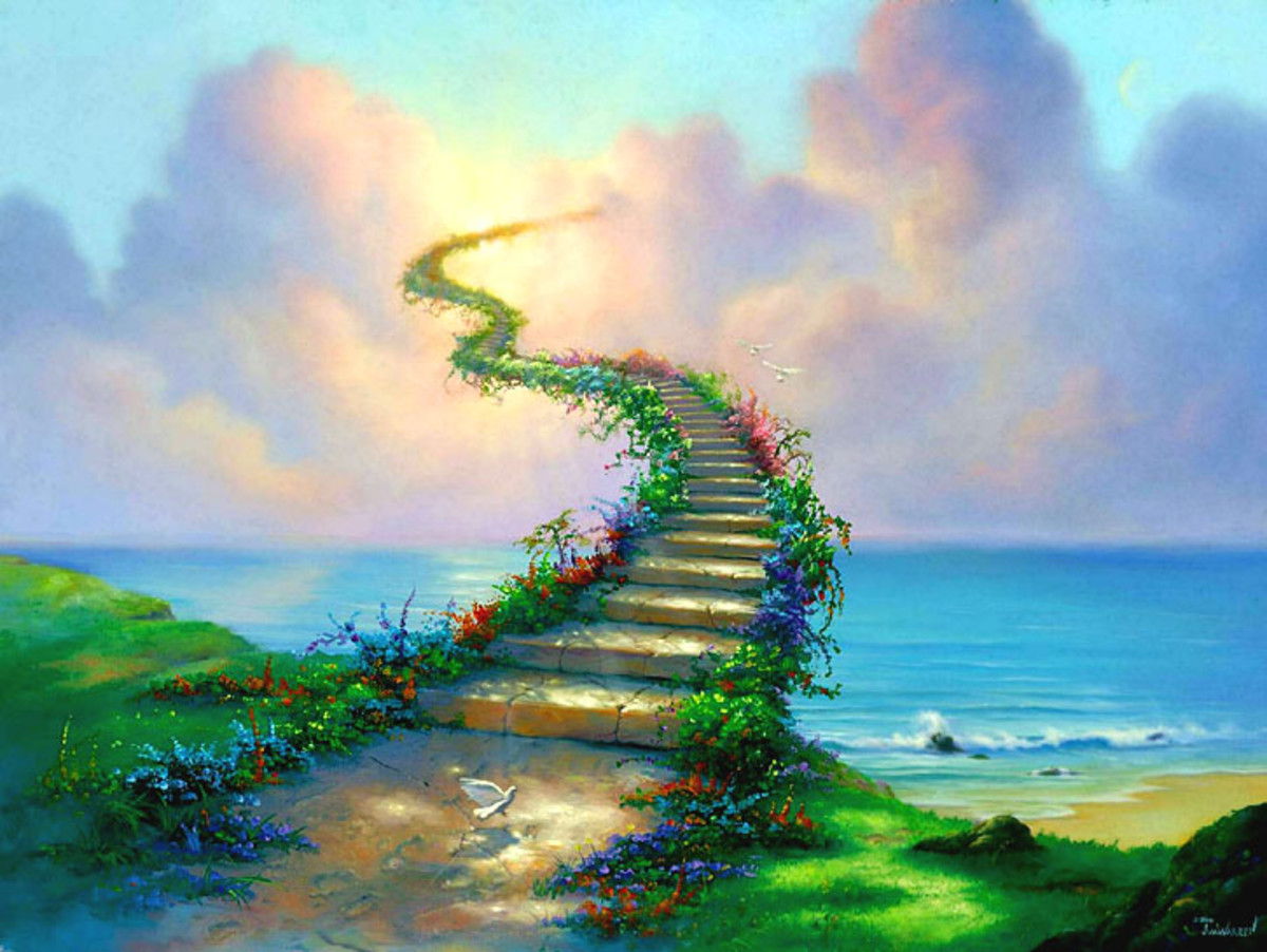 IS THERE A STAIRWAY TO HEAVEN FOR THE BELIEVER OR THE RIGHTEOUS?