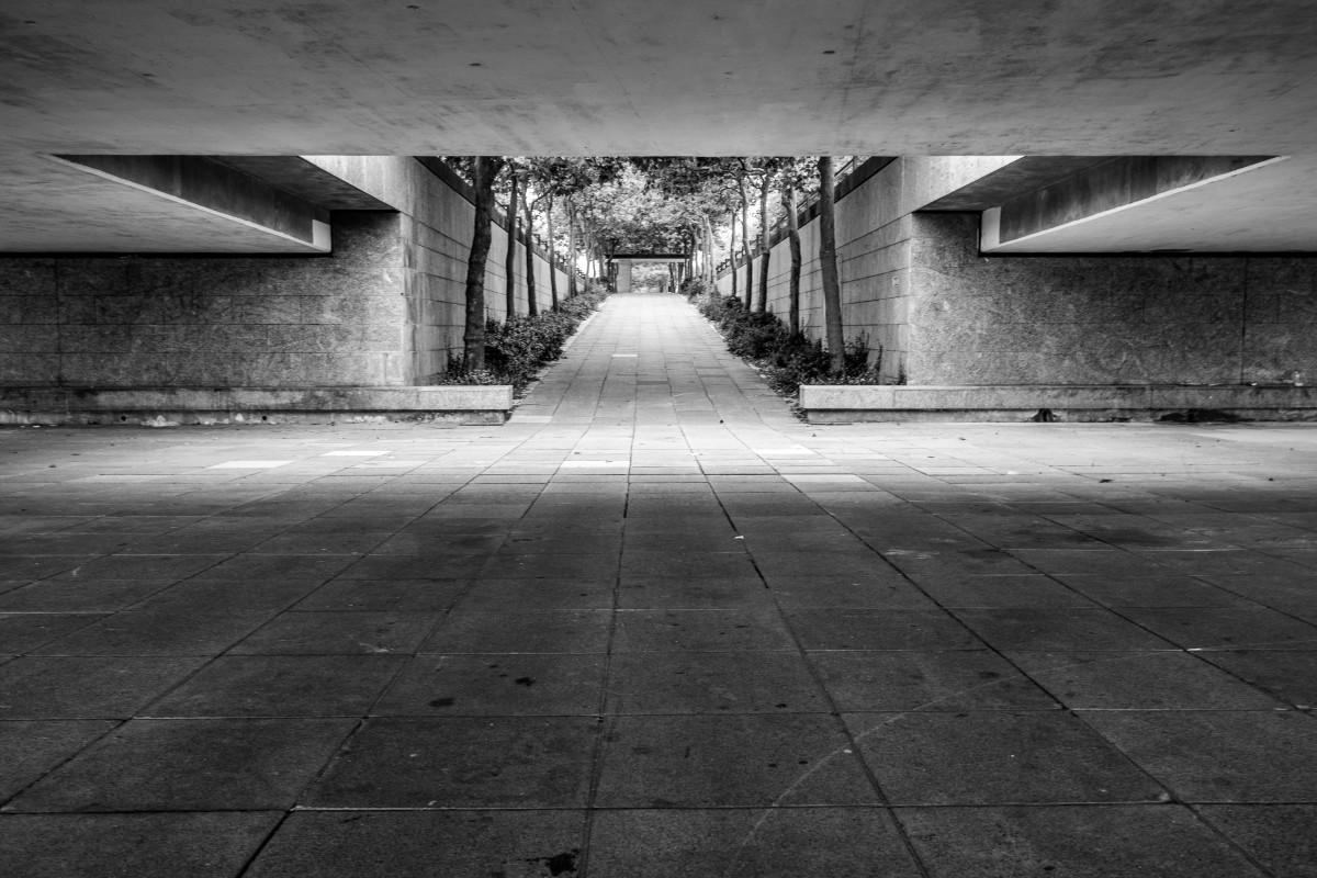 Concrete underpass in Milton Keynes
