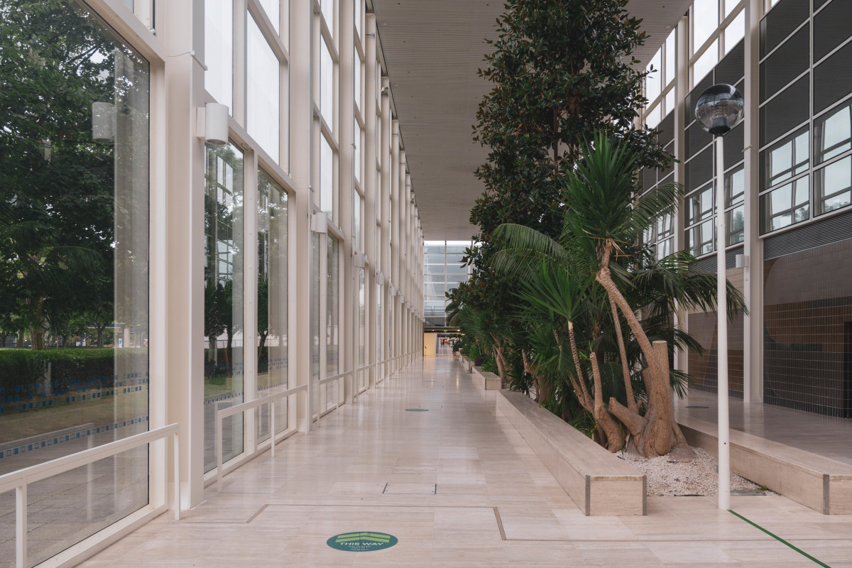 The interior gardens of the Shopping Building in Milton Keynes