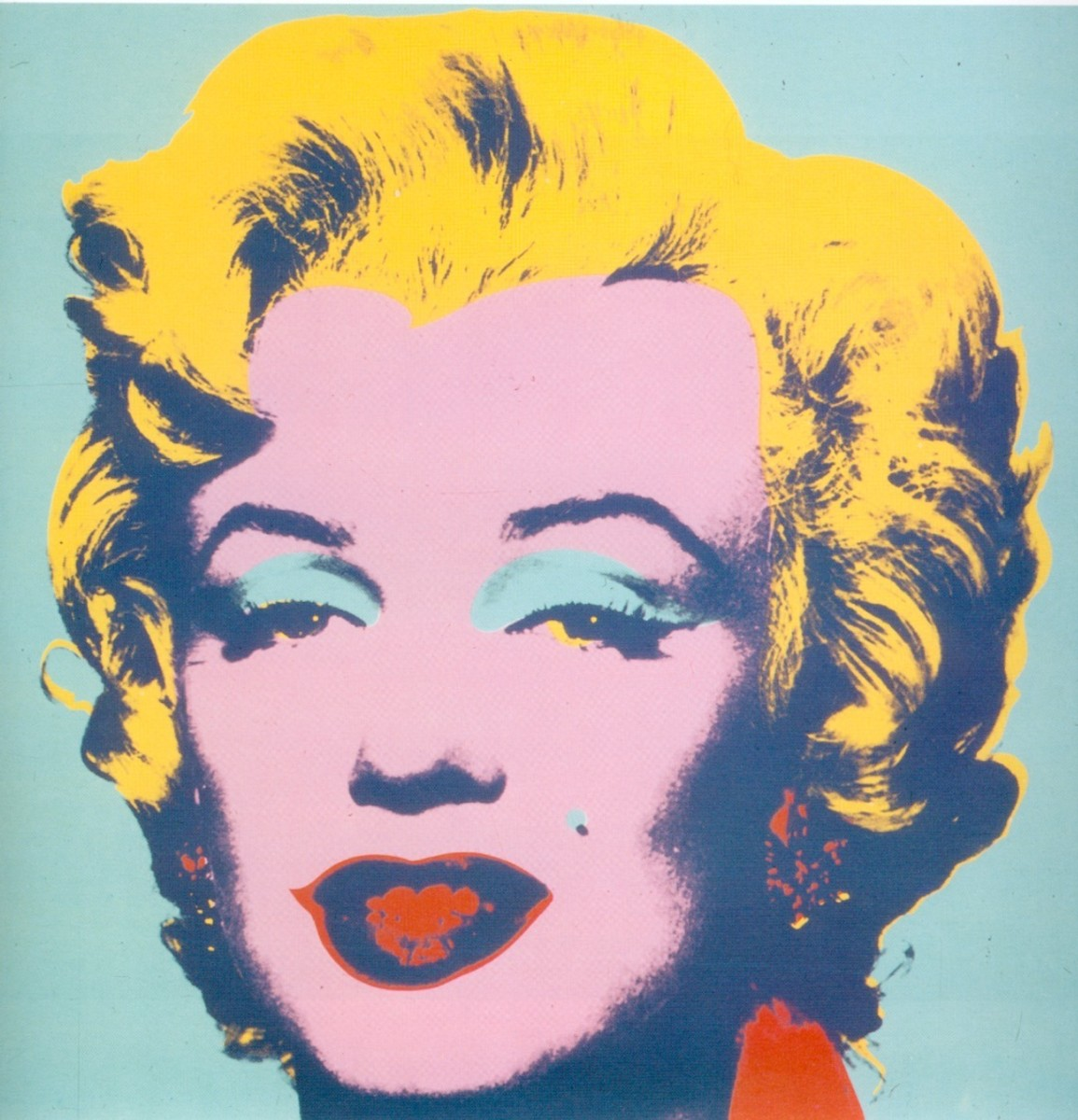 Warhol representation of Marilyn Monroe