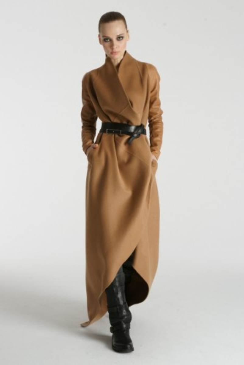 Cocoon style maxi coat from KaufmanFranco Fall Collection, 76; a collaboration between Ken Kaufman & Isaac Franco