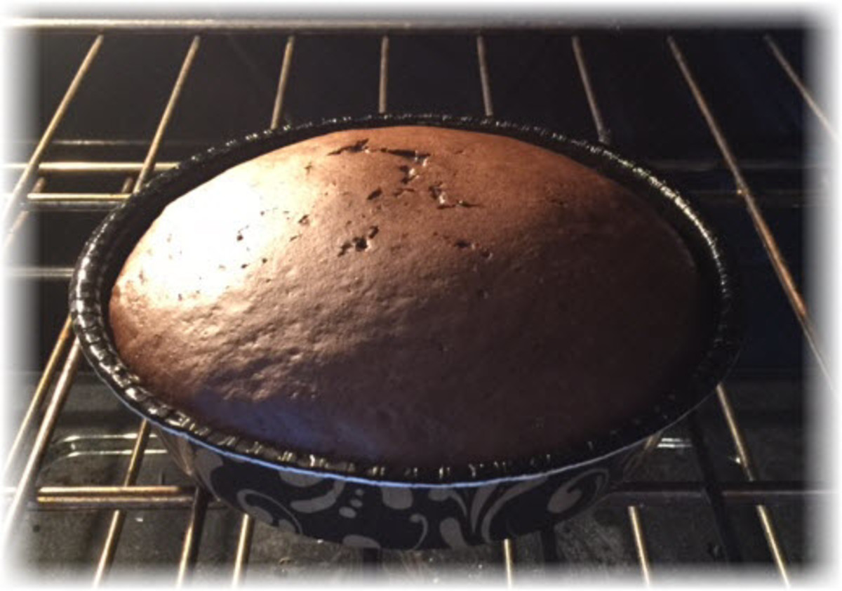 Cook the cake for approximately 35 minutes at 300 degrees.