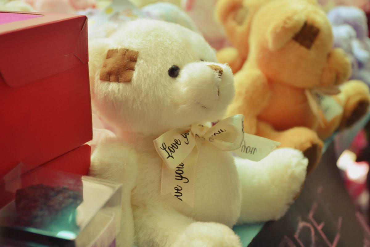 Teddy Bears are an expression of love at Valentine's Day.