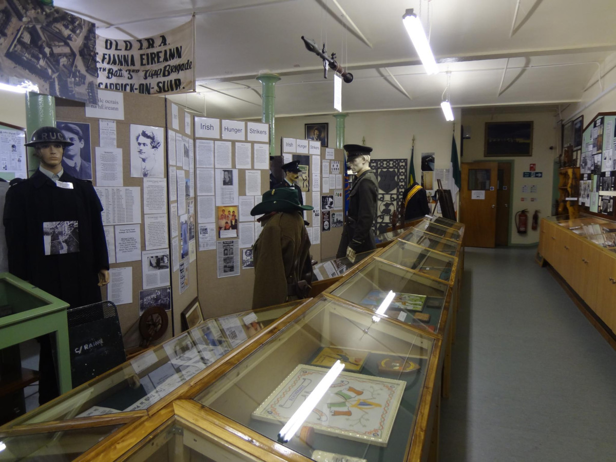 Exhibits in one section of the museum
