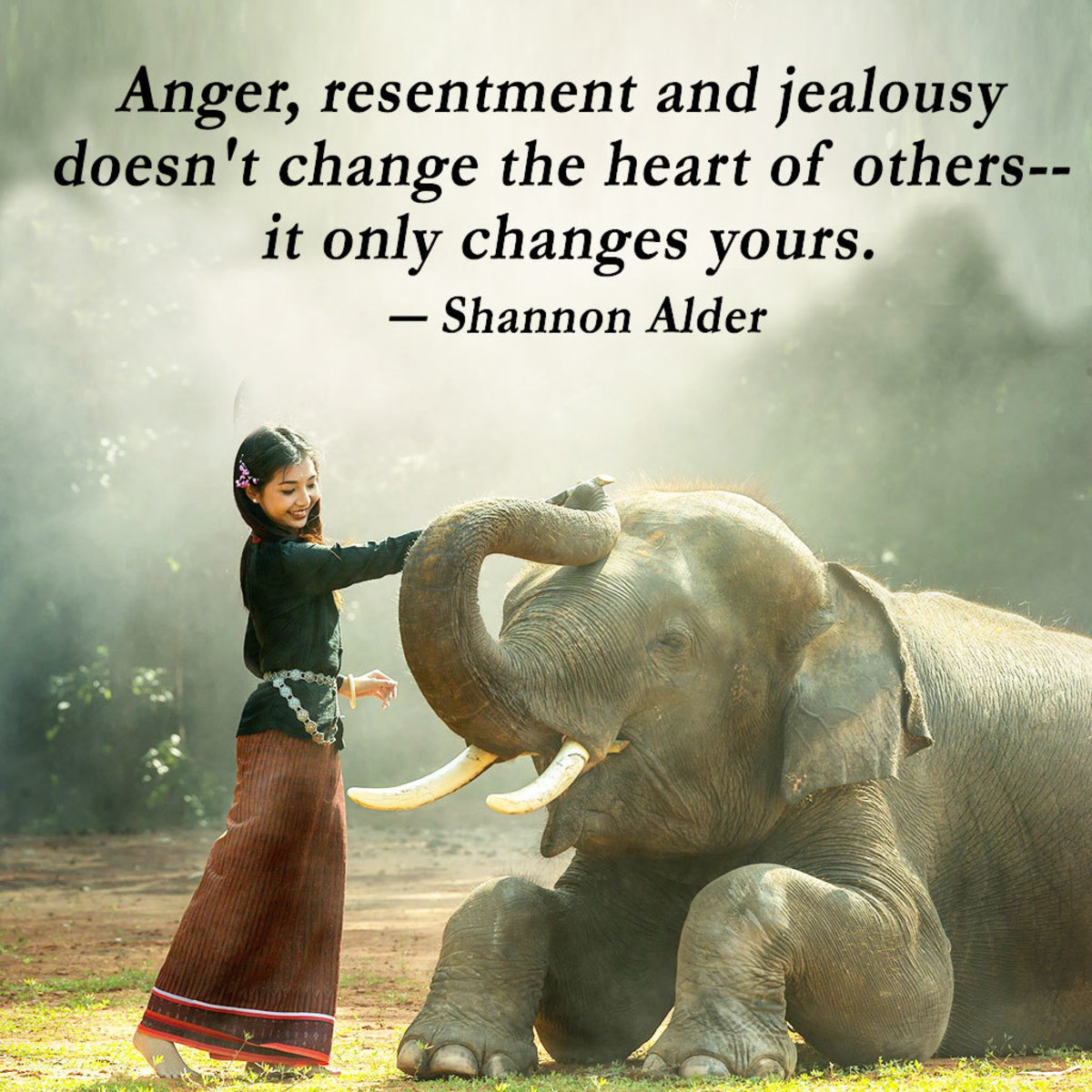 """""""Anger, resentment and jealousy doesn't change the heart of others-- it only changes yours."""" ― Shannon Alder"""