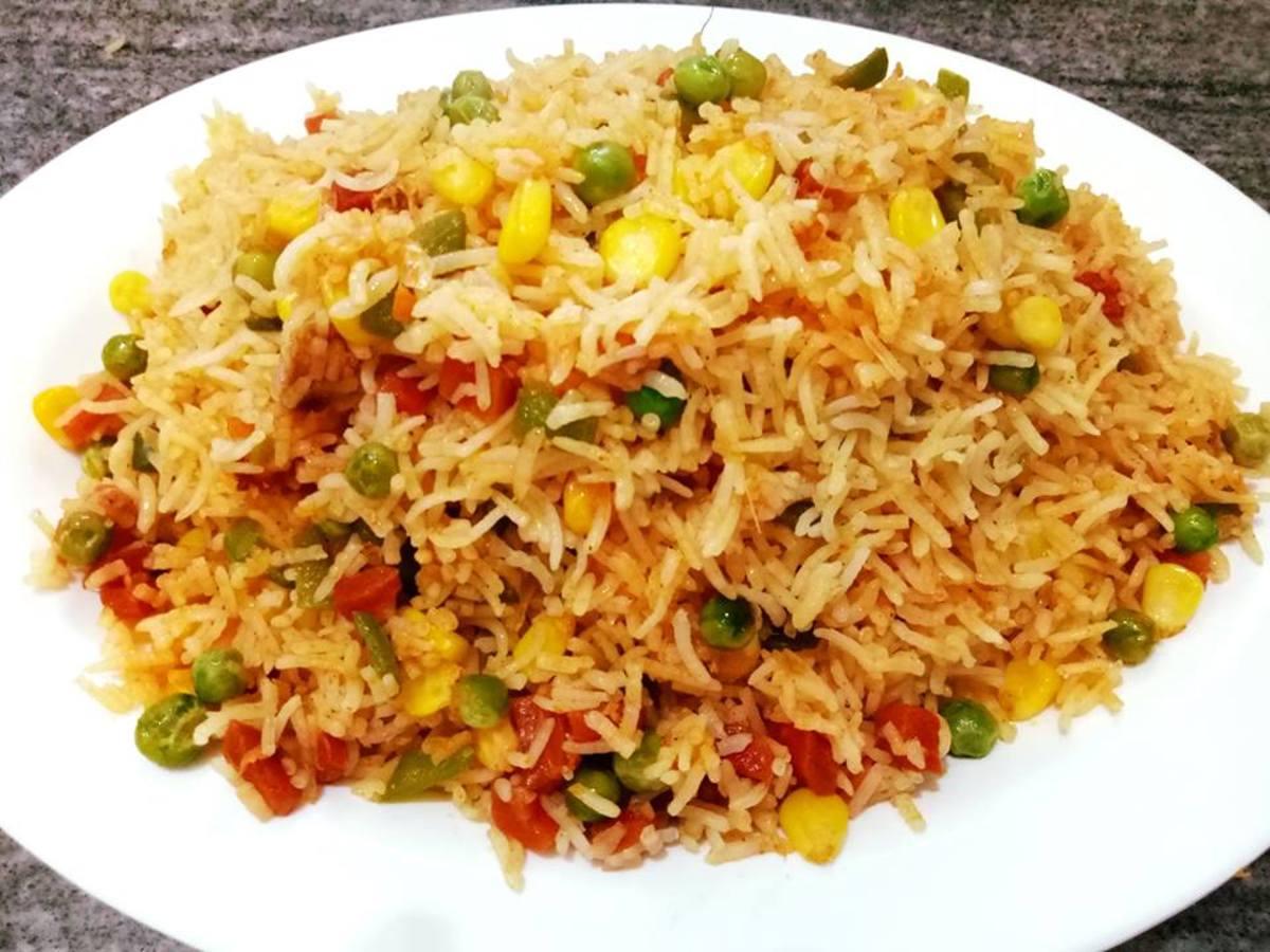 Schezwan Fried Rice Recipe Using Chings Secret Schezwan Fried Rice Masala