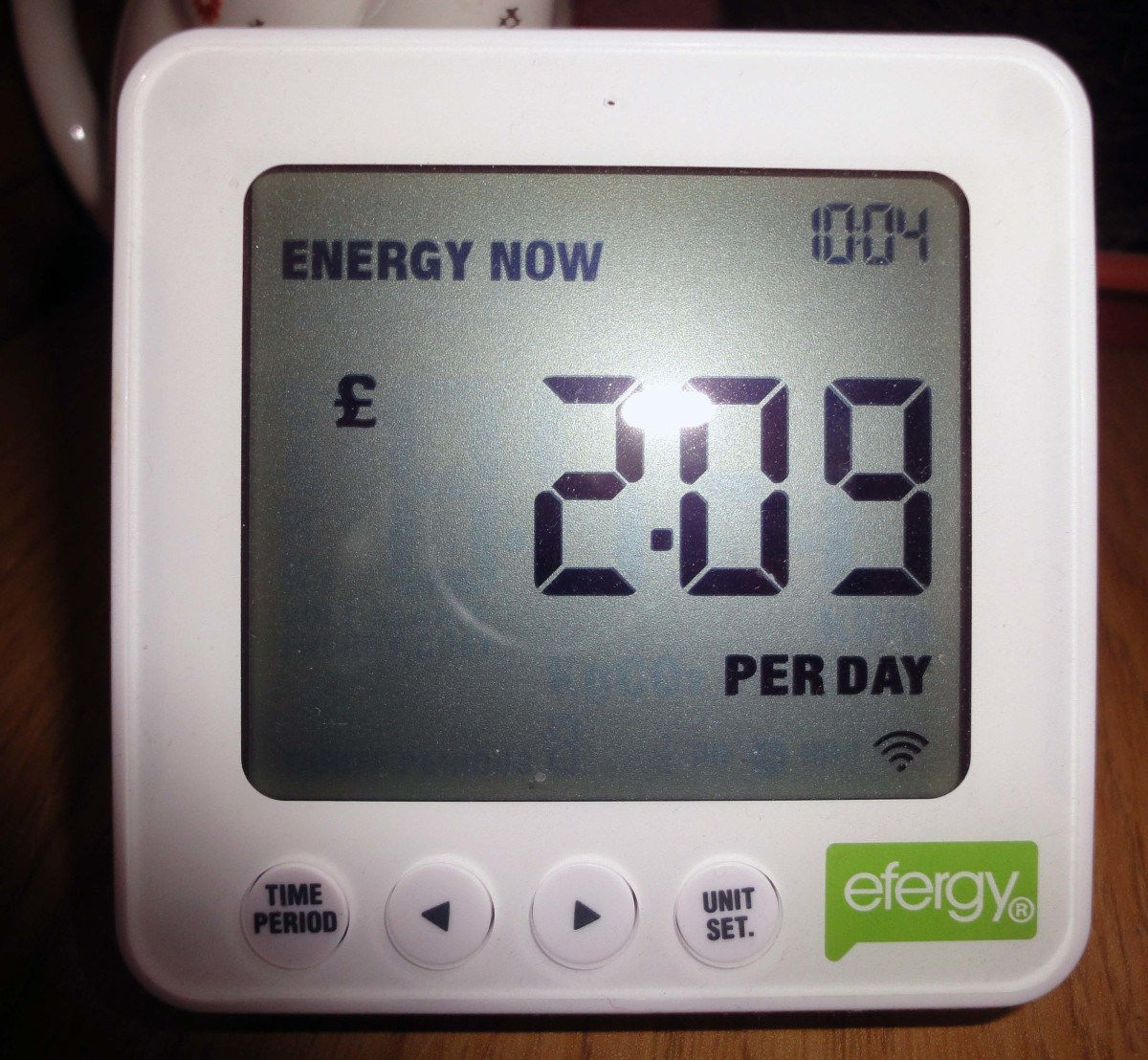 As previous image plus with lights in hall and landing switched on e.g. an extra 2p an hour.