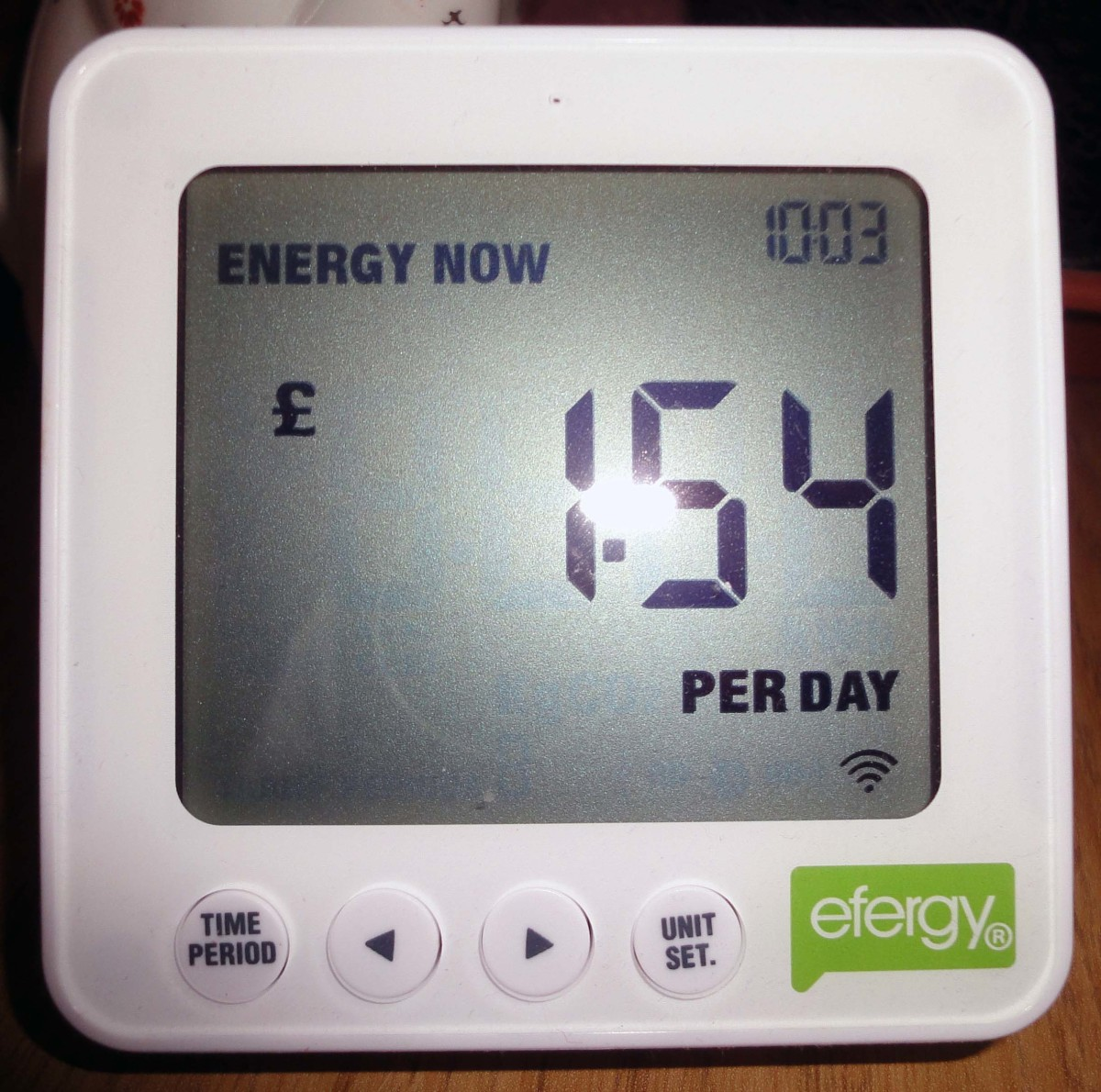 As at power usage when computer and bedroom TV are on with fridge and freezers.