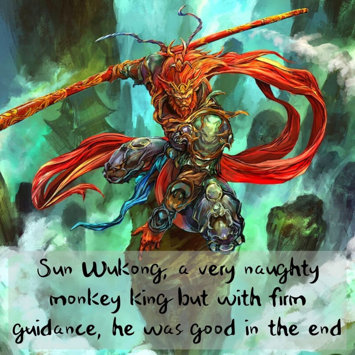 With guidance from Tang Sanzang, the Monkey King learns about virtues and the teachings of Buddhism and became a good superhero