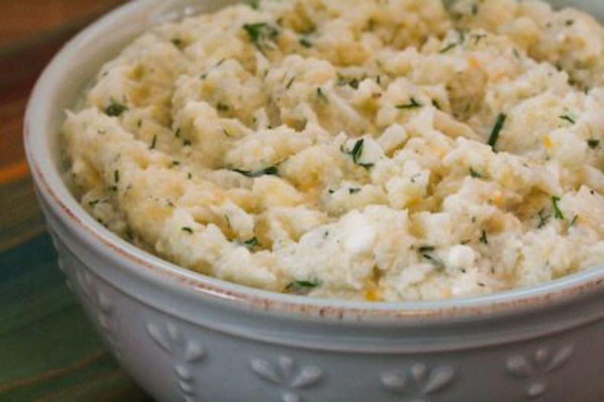 Cauliflower mash can be made with or without potatoes