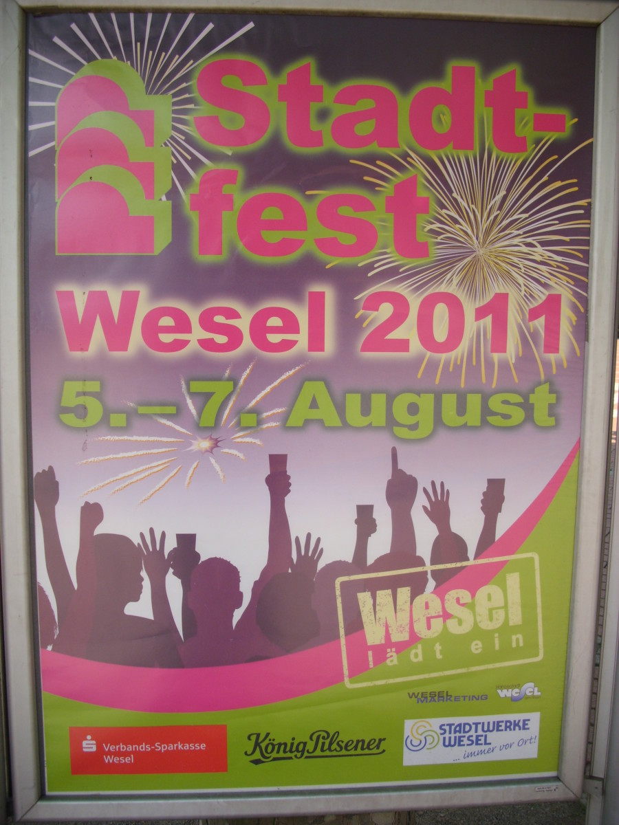 Wesel Townfest Advertisement